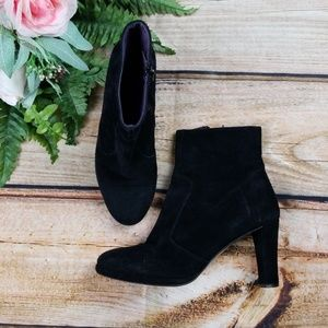 BODEN Boots Suede Black Ankle HeelS